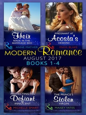 cover image of Modern Romance Collection: August 2017 Books 1--4